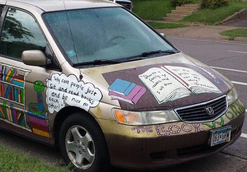 The Book Worm's Mini-Van (in the Bryant neighborhood)