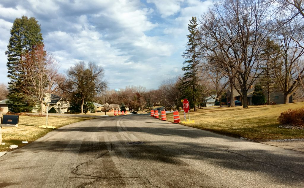 Removed chicanes from previous traffic calming attempts.