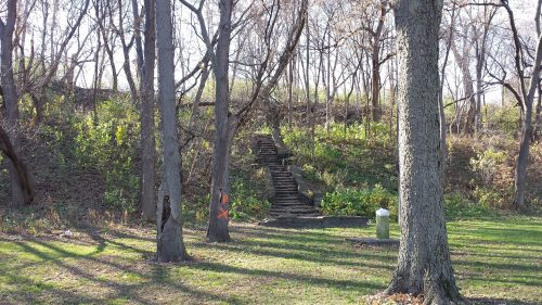 WPA-Constructed Steps in Riverside Park