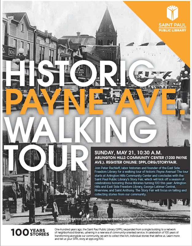 Information about the May 21st Payne Ave Walking Tour