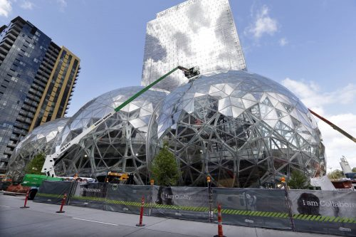 Geodesic Domes outside of Amazon's Seattle HQ