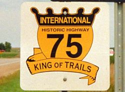King of Trails sign