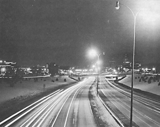 I-35W lights turned off.