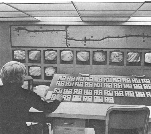 1970s Metro Traffic Control Center