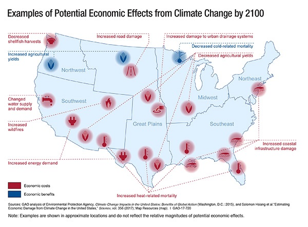 Map Monday Us Economic Impacts Of Climate Change Streets Mn