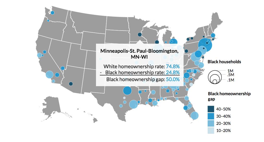 Map Monday Us Black Homeownership Inequality Streets Mn