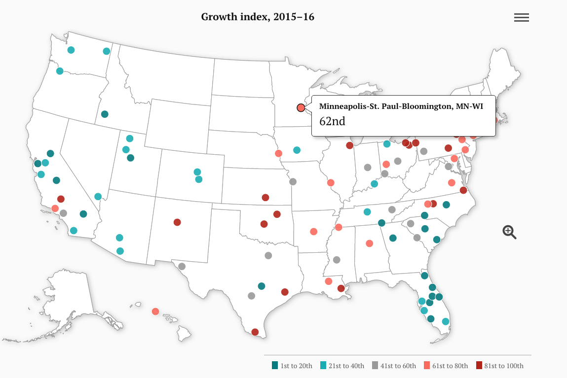 Map Monday: US Economic Indices from Brookings | streets.mn
