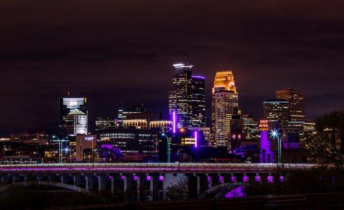 Minneapolis in Purple