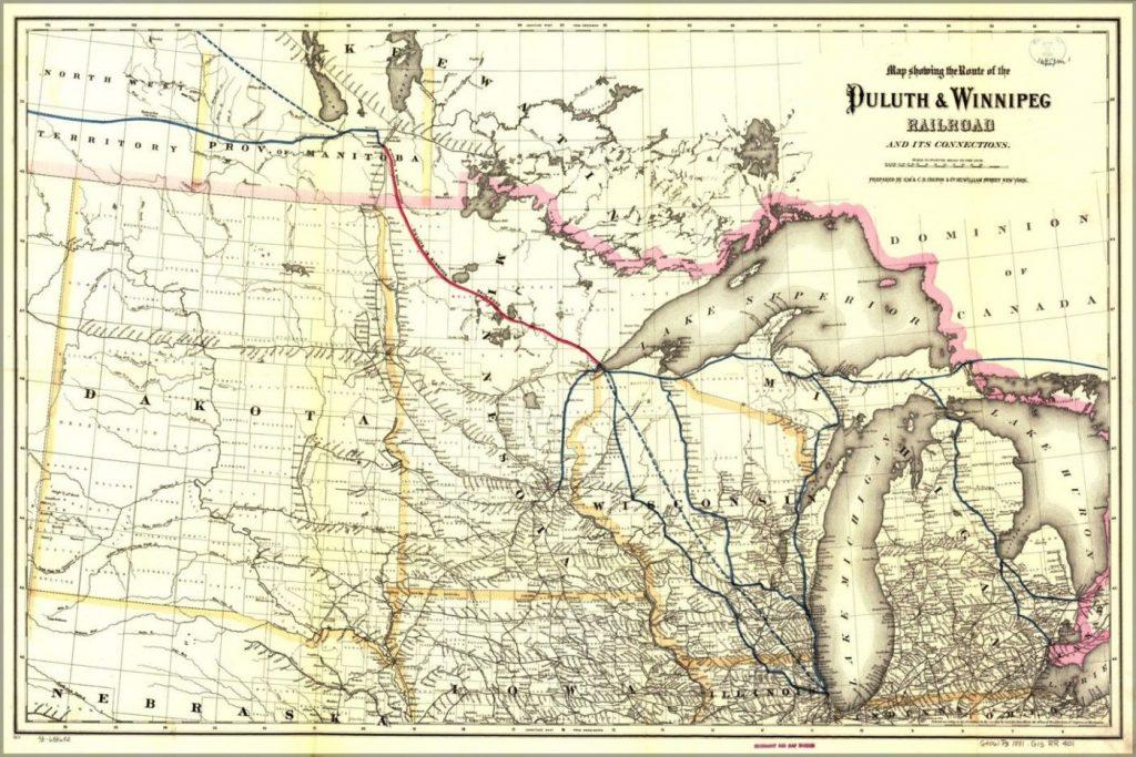 Duluth Winnipeg Railroad Map
