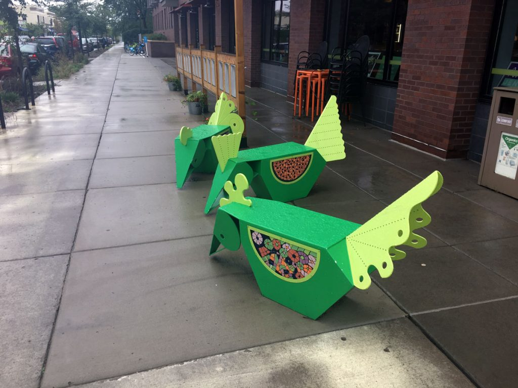 Nicollet Avenue Chicken Benches