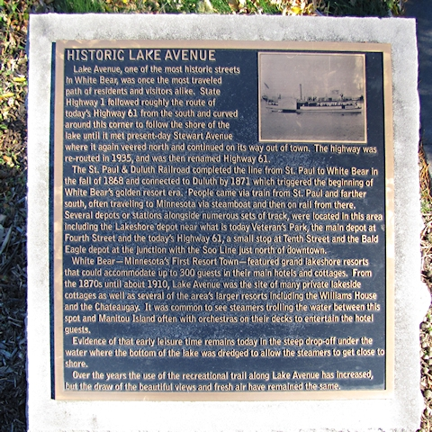 Lake Ave Plaque