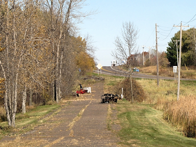 Old Old Highway 61 with New Old Highway 61 in the background.