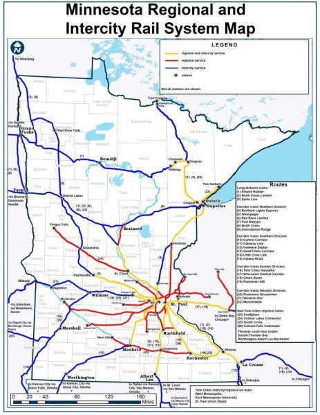Minnesota Passenger Rail Map