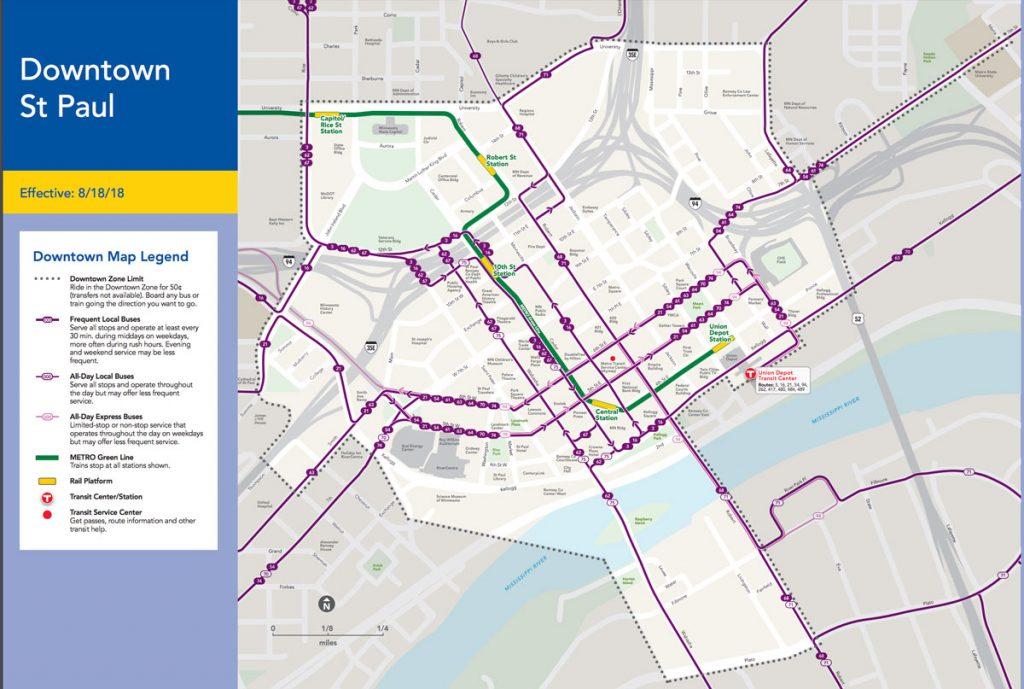 Metro Transit Stp Dt Zone Map