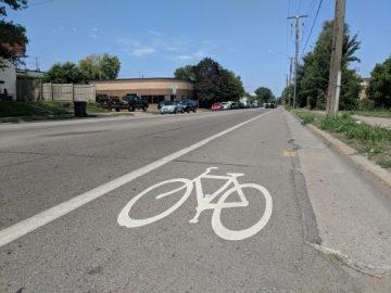 Bike Lane N 2nd St and Lowry