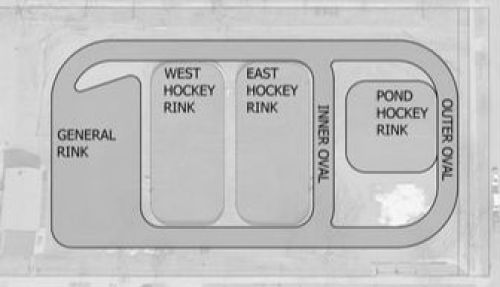 Figure 5. City of St. Paul's diagram of the ice rinks, open throughout the winter and spring