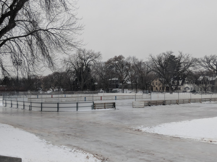 Figure 6. Photo of the ice rinks open throughout the winter and spring.
