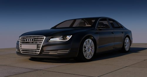 Auto Audi Sports Car Black Contour A8 Automobile