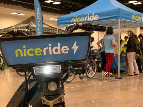 NiceRide Booth at the E-Bike Challenge