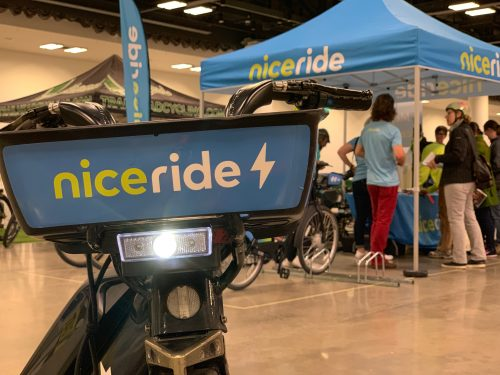 NiceRide Booth at the E-Bike Challenge