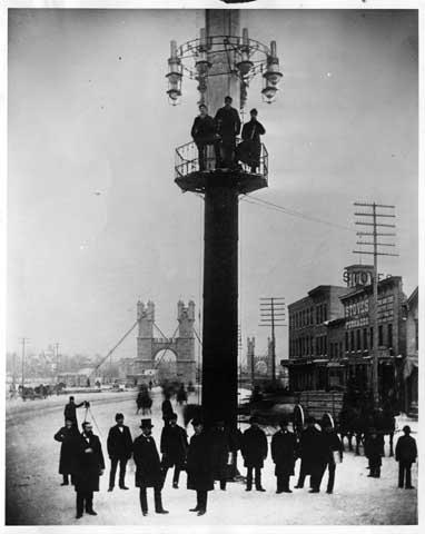 Tower Light at Bridge Square, 1883