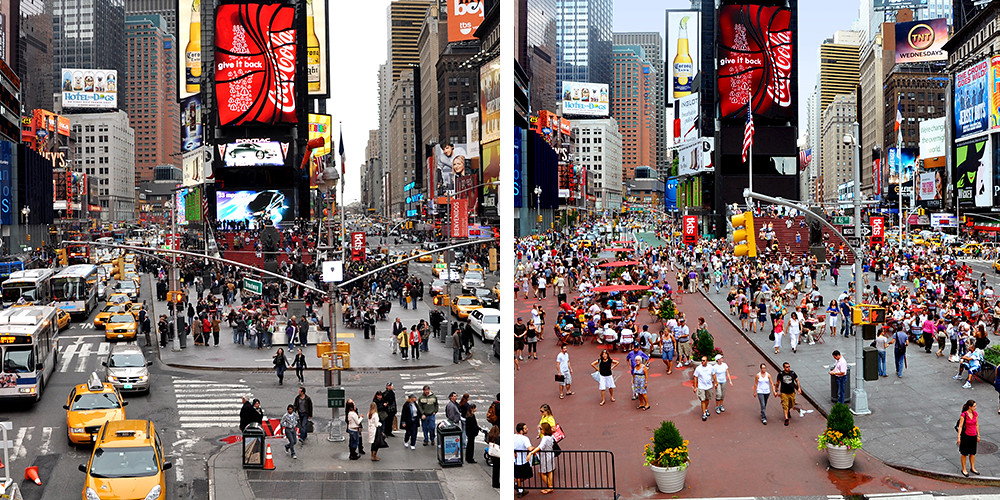 Before And After Broadway Times Square