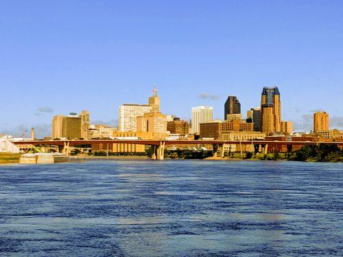 river, downtown