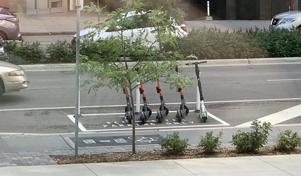 Minneapolis Scooter Parking At 100 Washington Square August 5 2019