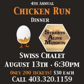 Chicken Run Dinner 2013