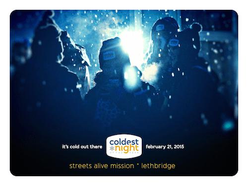 coldest night cold walkers - lethbridge 2015