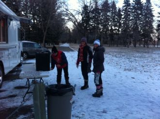Hot Chocolate Station - provided by the Lethbridge Salvation Army