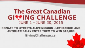 streets alive great canadian giving challenge