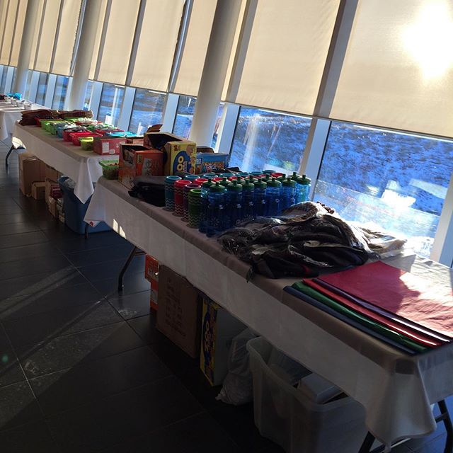 All set up and waiting for you join us at Heralding Hope Festival! Doors open at 6:30! Goodie Bags of Love are ready to be stuffed!These are probably the only gift our clients will receive this Christmas. #Lethbridge #hhfleth #streetsalivela