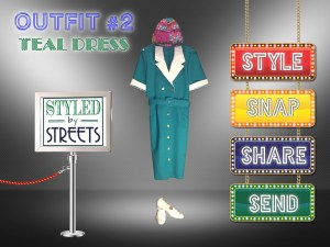 Styled by Streets - Outfit 2 - Teal Dress