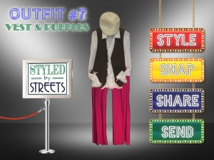 Styled by Streets - Outfit 7 - VEST AND RUFFLES