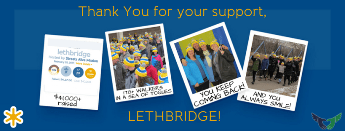 Thank You for your support Lethbridge - CNOY 2017