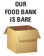 our food bank is bare - streets alive mission lethbridge