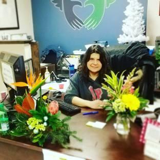 funky petals flowers mission desk