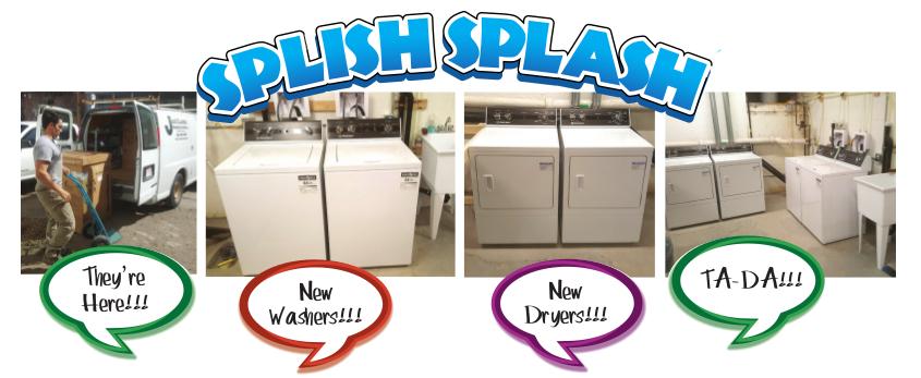 Splish Splash - New Washers and Dryers