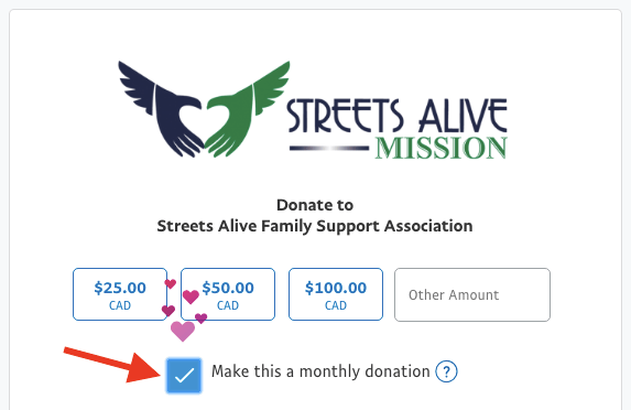 Make this a monthly donation