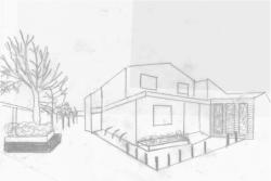 Sketch - site after intervention. Ballymac Friendship Trust