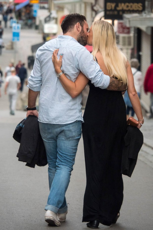 A Swedish couple kissing