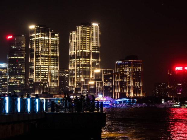 Huangpo River Shanghai at night