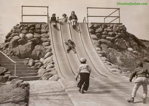 concrete-slide with text