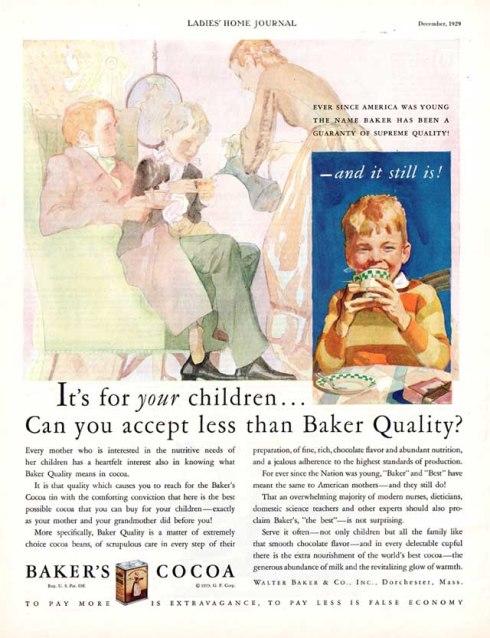 Chocolate Baker 1929