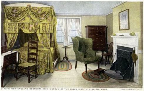 Bedroom at Essex Institute Salem 1907