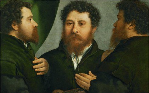 Triple Portrait Lorenzo Lotto
