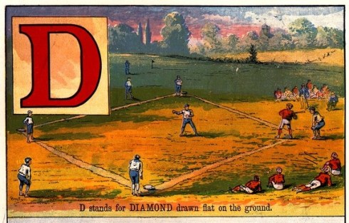 Alphabet Baseball Book McLoughlin Brothers 1885