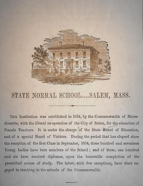 Salem State Normal School 1858