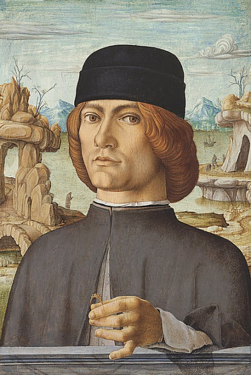 Francesco del Cossa. Portrait of a Man with a Ring 1472